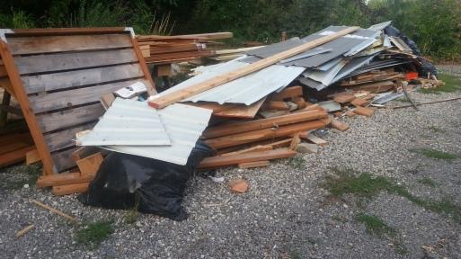 Remodel debris September 2015